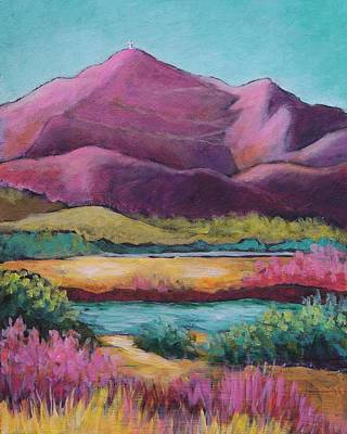 Rio Grande Painting - Colorful Cristo Rey by Candy Mayer