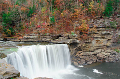 Photograph - Colorful Cumberland Falls by Mark Bowmer