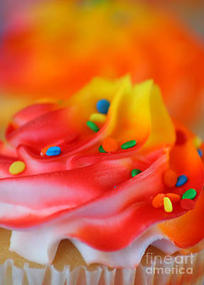 Colorful Cup Cake Art Print by Darren Fisher