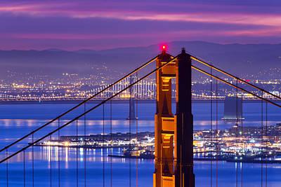 Bay Bridge Photograph - Colorful Dawn - San Francisco by David Yu