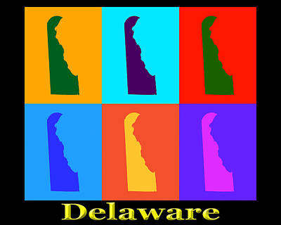 When Life Gives You Lemons - Colorful Delaware State Pop Art Map by Keith Webber Jr