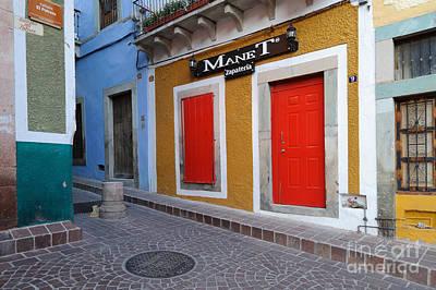 Photograph - Colorful Doors Guanajuato Mexico by John Shaw