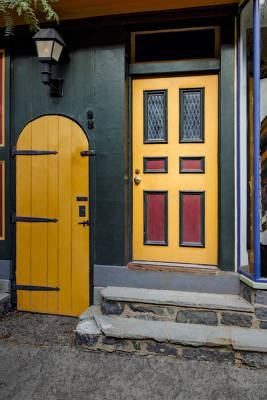 Colorful Doors Print by Susan Candelario