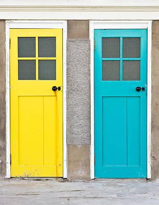 Door Photograph - Colorful Doors by Tom Gowanlock