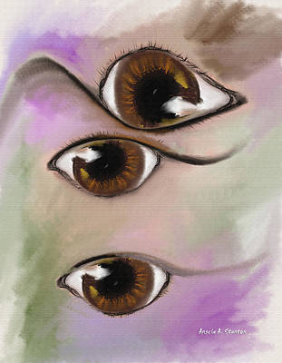Fish-eye Look Painting - Colorful Dreams by Angela A Stanton
