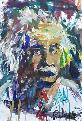 Painting - Colorful Einstein by Robert Joyner