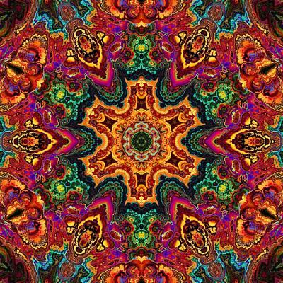 Digital Art - Colorful Enamel Snowflake by Lilia D