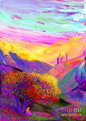 Mystical Landscape Painting - Colorful Enchantment by Jane Small