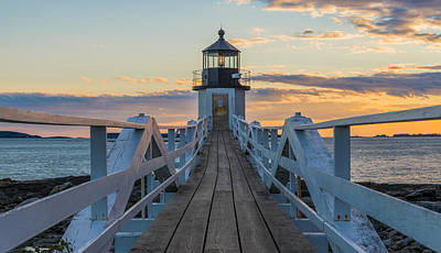 Lighthouse Maine Photograph - Colorful Ending by Kristopher Schoenleber
