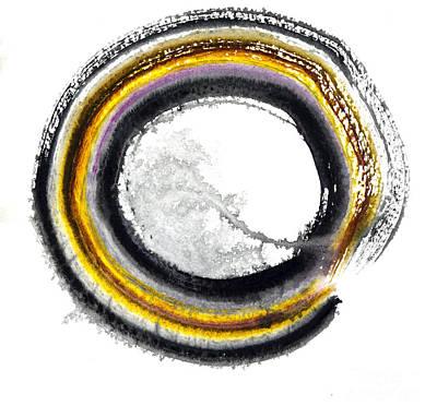 Zenga Painting - Colorful Enso by Ellen Miffitt