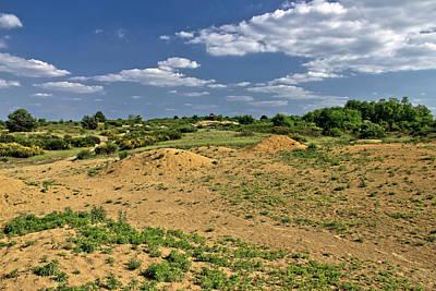 Photograph - Colorful European Desert Landscape Under Blue Sky by Brch Photography
