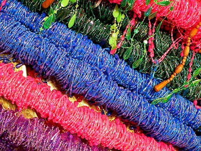 Photograph - Colorful Fabric Fringe by Jeff Lowe