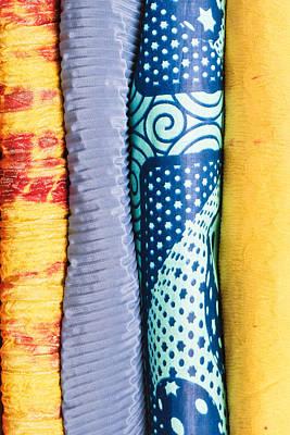 Colorful Fabrics Art Print