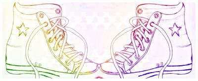 Shoe Multicolored Painting - Colorful Feet by Anne Costello