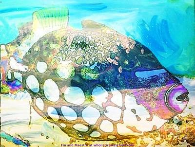 Painterartistfin Mixed Media - Colorful Fish by PainterArtist FIN