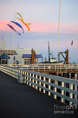Photograph - Colorful Flags And Wharf by Debra Thompson