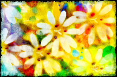 Photograph - Colorful Floral Abstract - Digital Paint by Debbie Portwood