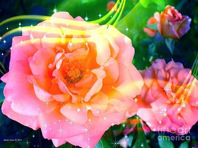 Photograph - Pretty Pink Flowers by Annie Zeno