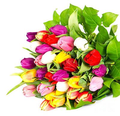 Colorful Flower Bouquets Art Print