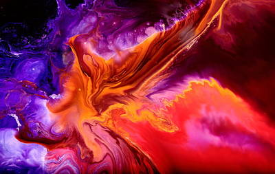 Colorful Fluid Abstract Art Moonstruck By Kredart Art Print