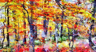 Greek Painting - Colorful Forest by George Rossidis
