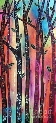 Colorful Forest Art Print by Karla Gerard
