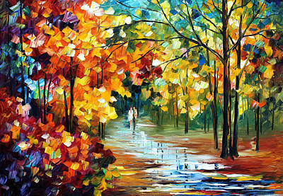 Free Painting - Colorful Forest - Palette Knife Oil Painting On Canvas By Leonid Afremov by Leonid Afremov