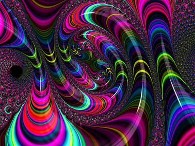Colorful Fractal Art Art Print