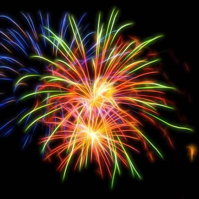 Photograph - Fireworks #3 by Yulia Kazansky