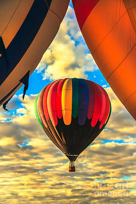 Colorful Framed Hot Air Balloon Art Print