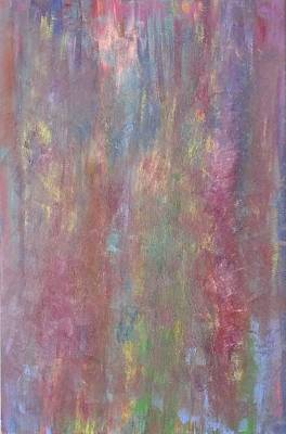 Multicolored Painting - Colorful Fusion Abstract by Kevin  Ramlogan