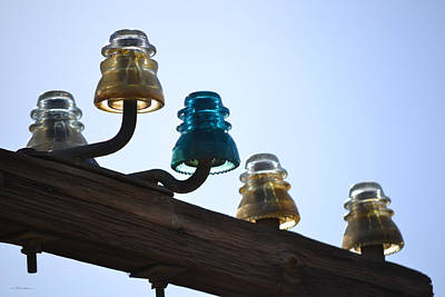 Photograph - Colorful Glass Insulators by rd Erickson