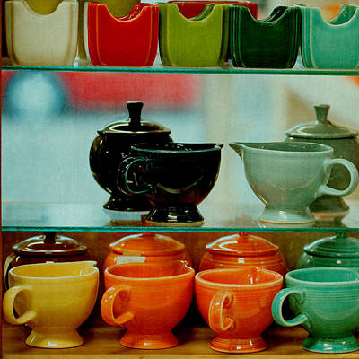 Fiestaware Photograph - Colorful Glassware by Bonnie Bruno