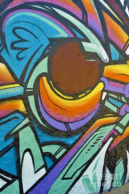 Photograph - Colorful Graffiti Display by David Zanzinger