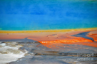 Photograph - Colorful Grand Prismatic Close Up by Debra Thompson