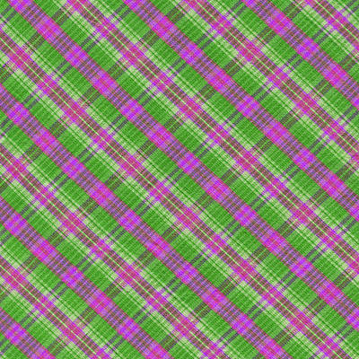 Colorful Green And Pink Plaid Textile Background Art Print by Keith Webber Jr