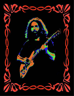 Jerry Garcia Photograph - Colorful Guitarist 3 by Ben Upham