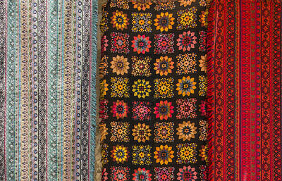 Photograph - Colorful Handmade Fabrics by Ben and Raisa Gertsberg