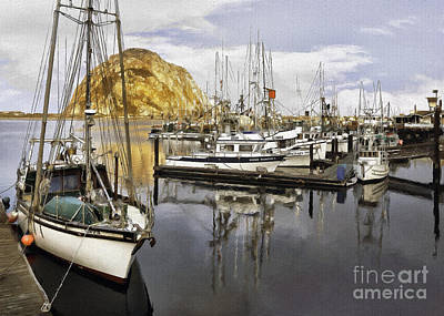 Photograph - Colorful Harbor II Impasto by Sharon Foster