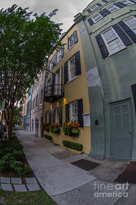 Photograph - Fish Eye View Of Colorful Homes by Dale Powell