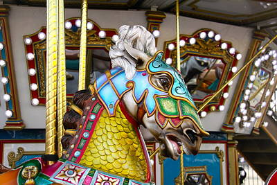 Photograph - Colorful Horse Close Up by Denise Mazzocco