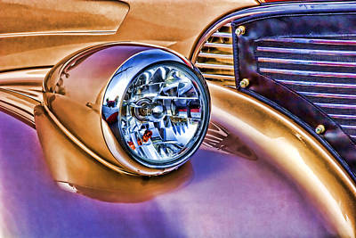 Dramatic Digital Art - Colorful Hotrod by Carol Leigh