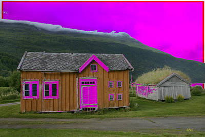 Contry Digital Art - Colorful House By The Road by KJ DePace