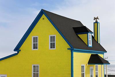Madeleine Photograph - Colorful House, Iles De La Madeleine by Keren Su
