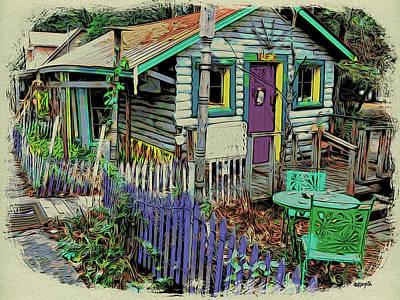 Mentone Al Wall Art - Photograph - Colorful House Mentone Al by Rebecca Korpita