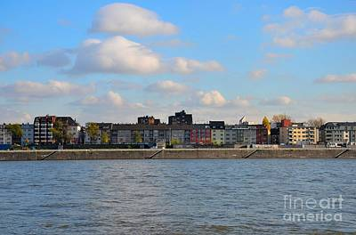 Studio Grafika Science - Colorful houses across Rhine River Cologne Germany by Imran Ahmed