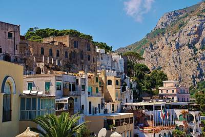 Photograph - Colorful Houses In Capri by Dany Lison