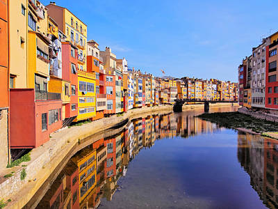 Colorful Houses In Girona Art Print by Karol Kozlowski