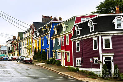 Colorful Houses In Newfoundland Art Print by Elena Elisseeva