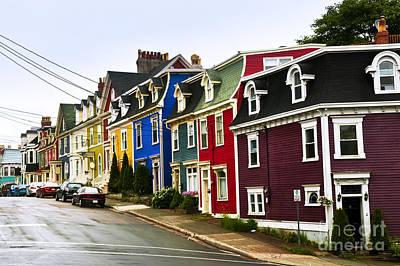 Staff Picks Judy Bernier - Colorful houses in Newfoundland by Elena Elisseeva